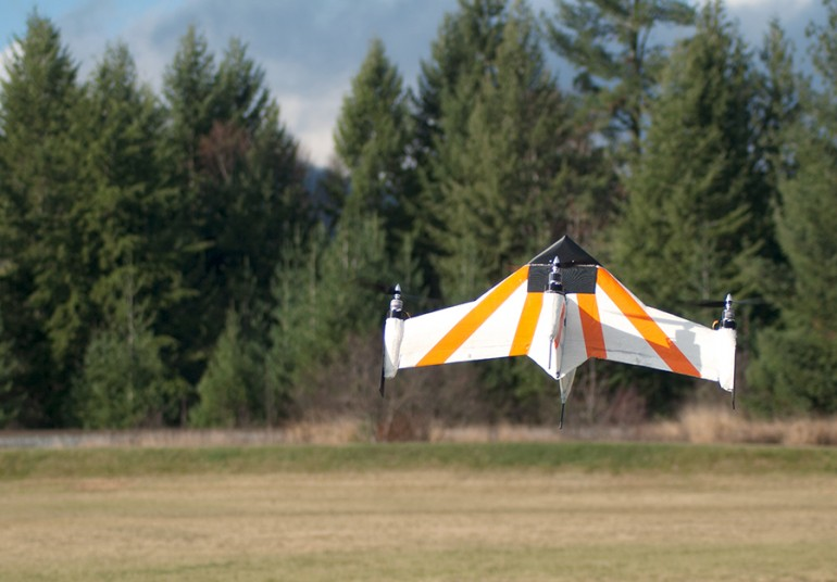 Fast-flying Drone Also Hovers