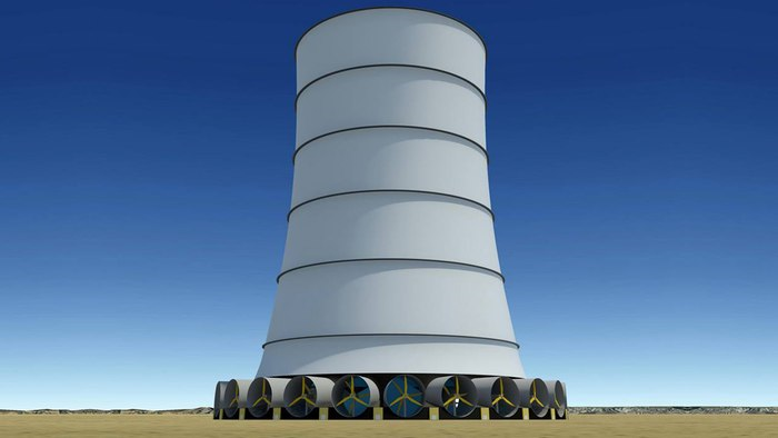 Solar Wind Energgy's Downdraft Tower